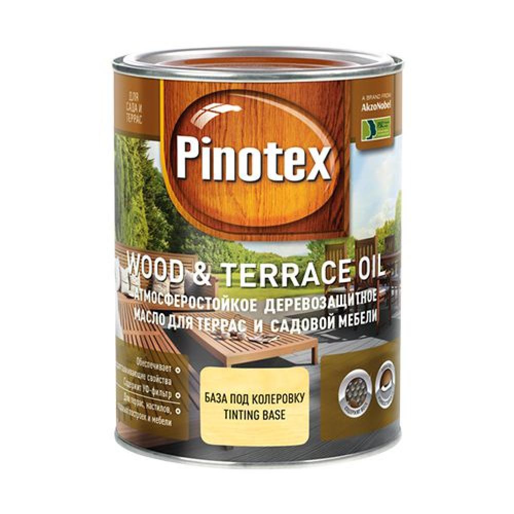 Pinotex Wood & Terrace Oil / Пинотекс Вуд энд Терас Ойл масло для террас и садовой мебели